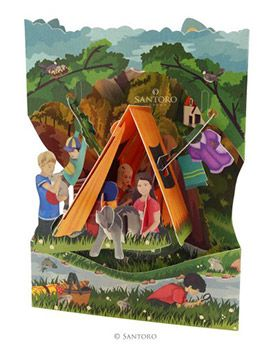 Camping 3D Swing Cards