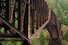 Niagara Gorge Train Trestle, Goldstream, BC