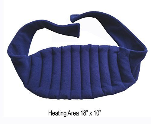 Sunny Bay Lower Back And Shoulder Joint Heat Wrap with Strap 10x18 Heating Area Microwave HotCold Pad Reusable Portable Navy Blue -- Continue to the product at the image link.
