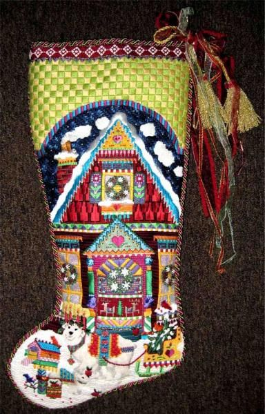 Melissa Shirley Designs   Hand Painted Needlepoint   A Spectacular Stocking