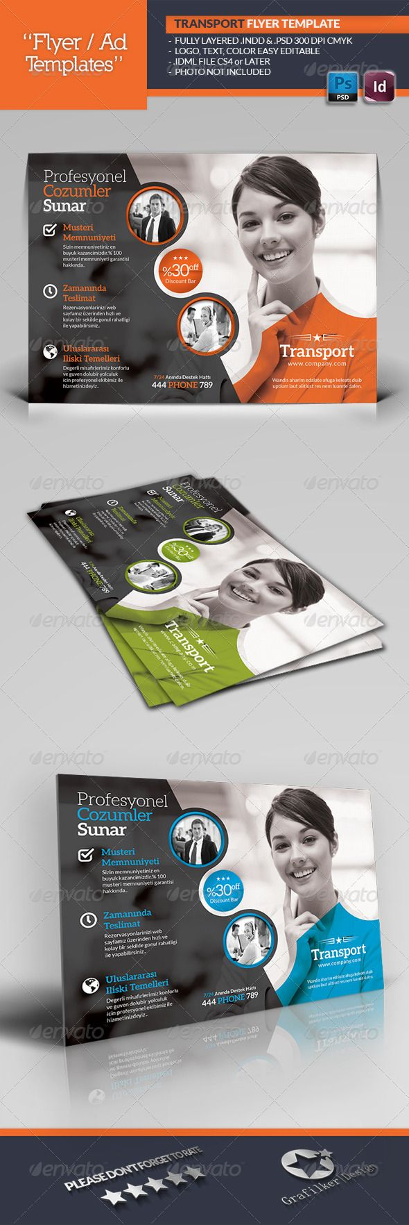 Transport Flyer Template  #GraphicRiver