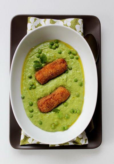 Egyszerű zöldborsó főzelék