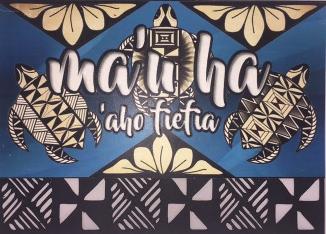 """Celebrating our cultural heritage """"Happy Birthday"""" in Tongan! Tonga, Tongan Card, Polynesian,  Handcrafted,  Embossed, Die-cut, 5'x7'inch landscape, 300gsm cardstock, Acid free."""
