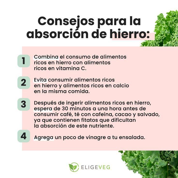 Consejos Para La Absorcion De Hierro Saludable Consejos De Nutricion Salud Y Nutricion Nutricion