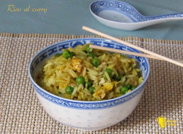 Riso al curry ricetta cinese il chicco di mais