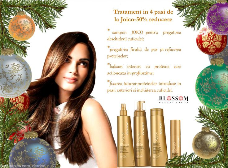 Special de sărbători - 50% reducere pentru sănătatea părului! Tratamentul pentru păr degradat de la Joico are 50% reducere luna aceasta. Este un cadou perfect pentru cei dragi de sărbători. Cere detalii despre cum poți crea un voucher pentru cadourile de Crăciun și Anul Nou.