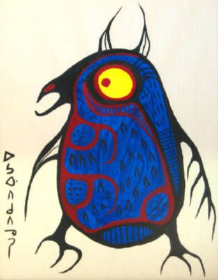 Shaman artist Norval Morrisseau, of the Canadian Ojibwe.