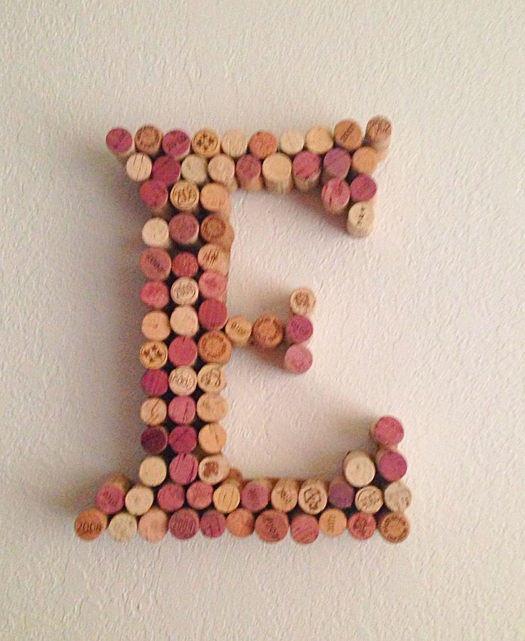 Wine cork letter...E Letter Images Love