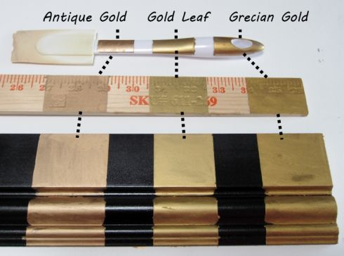 Three Golds: Comparing Rub 'N Buff's Gold Finishes | fig tree sundays