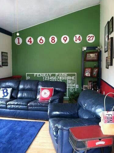 "This is what my ""man cave"" would look like... boston red sox bosox"