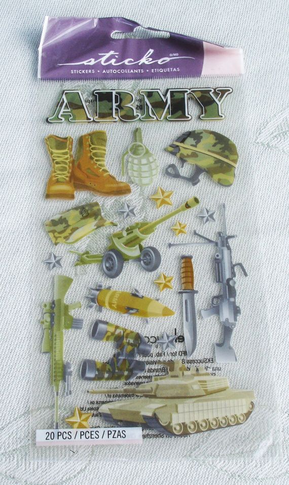 Sticko Army Military Stickers - 20 pcs