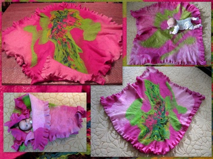 FELT ART IN SIBERIA: Felted Baby Blanket - Детское валяное одеяло (Ковер-самолет!)