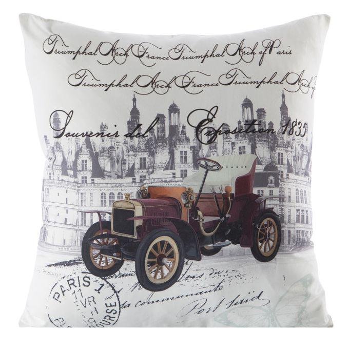Obliečky na vankúšiky v bielej farbe s motívom vintage