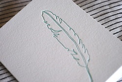 : Beautiful Letterpresses, Letterpresses Cards, Press Stationery, Feathers Forever, Satsuma Press, Art Inspiration, Feathers Cards, Letterpresses Feathers, Press Cards