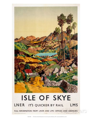 Isle of Skye, LNER, c.1939 Art Print