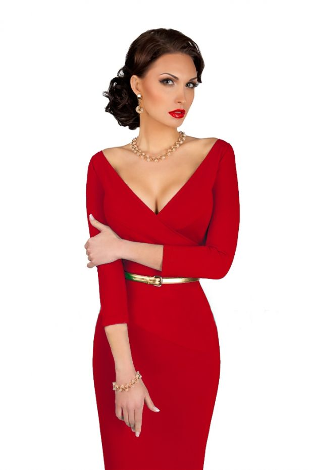 Красное вечернее платье 2016 (75 фото): макияж, маникюр, образы, кружевное, красивое, красно-белое, с чем носят