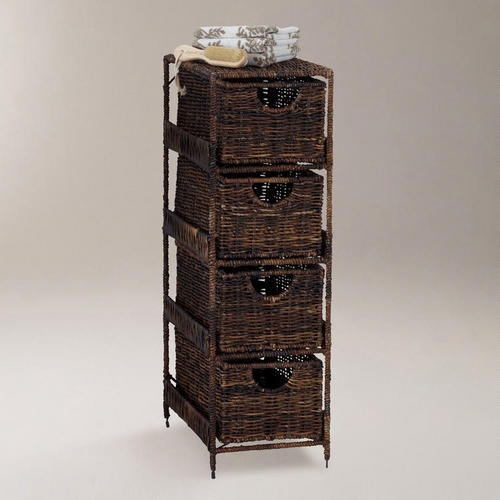One of my favorite discoveries at WorldMarket.com: 4-Drawer Madras Tower