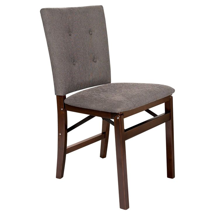 stakmore parsons upholstered folding chair set of 2