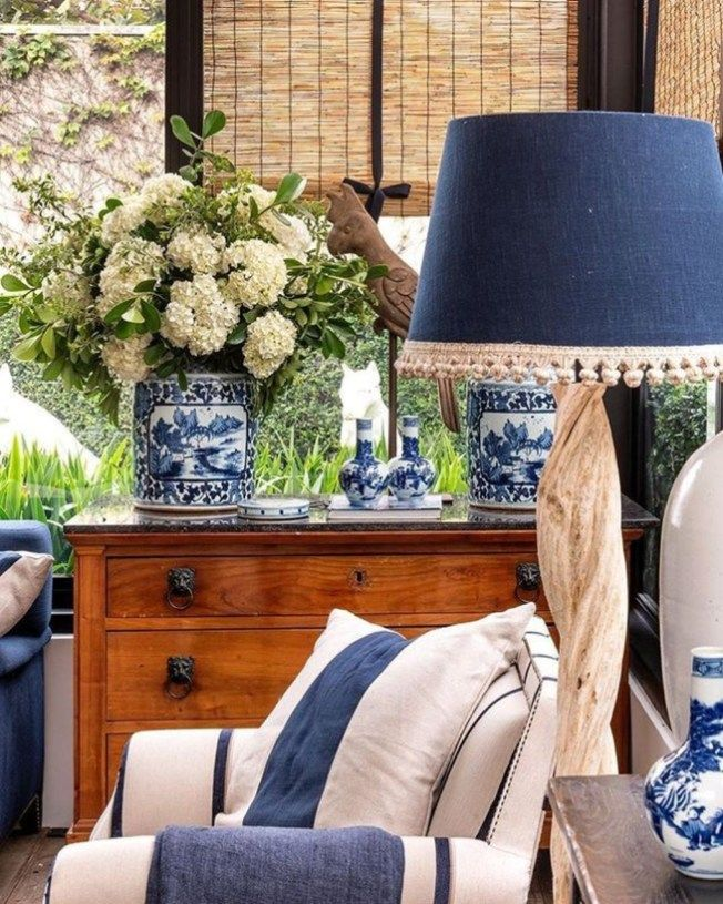 46 Affordable Blue And White Home Decor Ideas Best For Spring Time