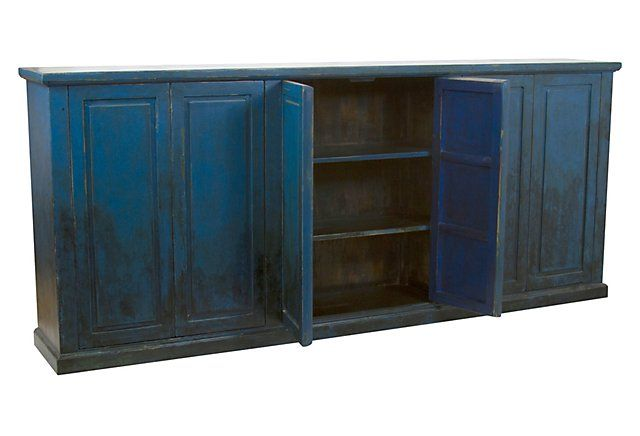 "Cambria 97"" Sideboard, Blue 