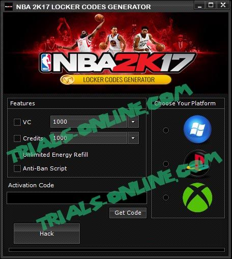 NBA 2K17 Locker Codes Generator Free  PS3 Xbox