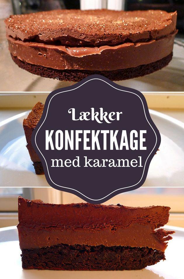 Utroligt lækker konfektkage med en skøn kombination af intens chokoladesmag og dejlig karamel.