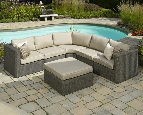 Imagine lounging outside with this 6-Piece Dominica Sectional Seating  Collection · Furniture CollectionOutdoor ... - 100 Best Images About Popular On Menards.com On Pinterest