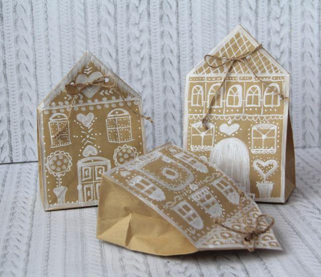 Царевна - Лягушка: Пряничные домики - НГ упаковка для имбирного печенья!