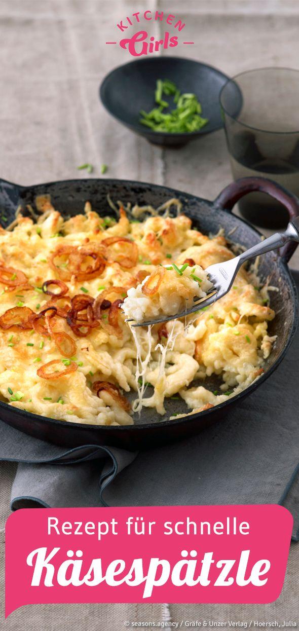 Rezept für einfache Käsespätzle   – Herbstküche mit Kürbis, Kohl & Co.