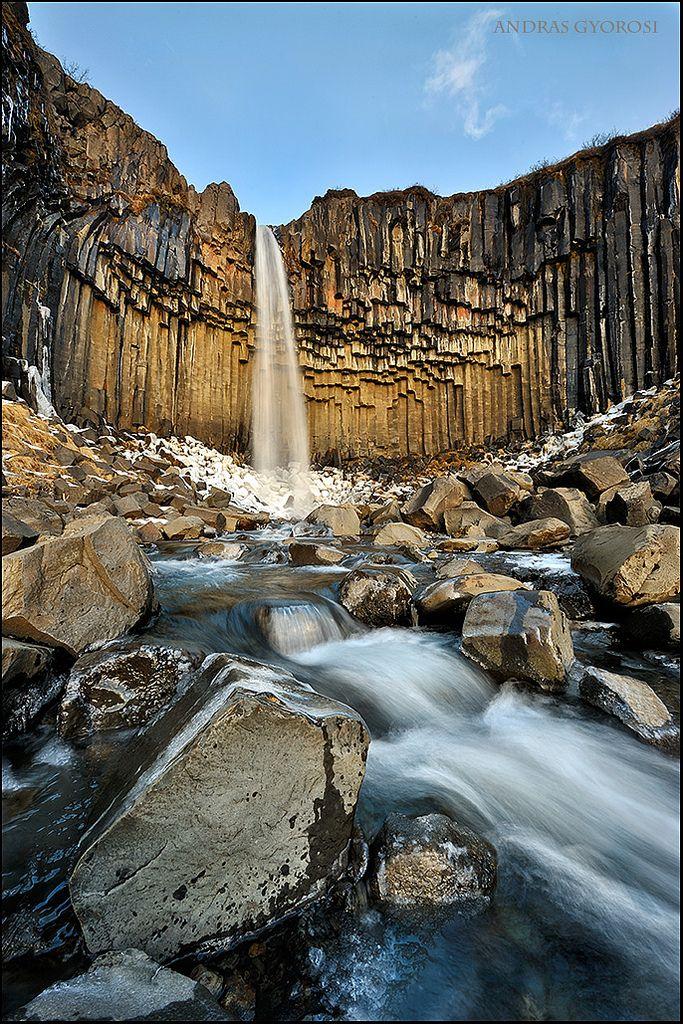 Cascada Svartifoss, #Islandia