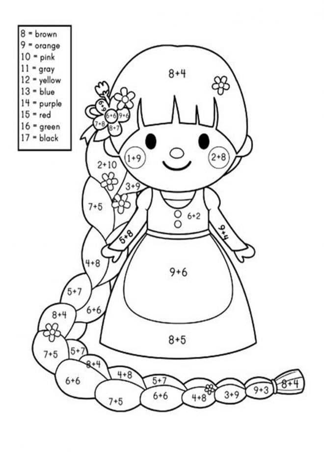 Free Printable Color By Number Worksheets For Kindergarten Addition Coloring Worksheet Kindergarten Worksheets Math Coloring