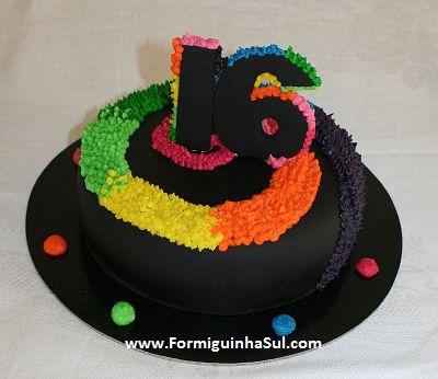 Uma espiral colorida para festejar 16 anos
