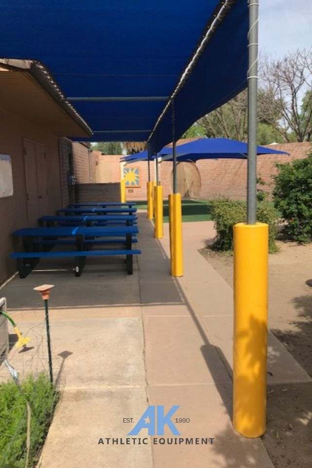Outdoor School Shade Canopy Pole Pads In 2020 Canopy Poles Outdoor School Outdoor Playground