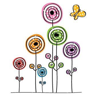 flores caricatura - Buscar con Google