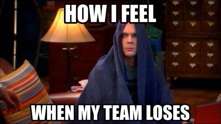 How I feel when my team loses, sigh... this seems to happen quite often lately *cough* Flyers *cough*