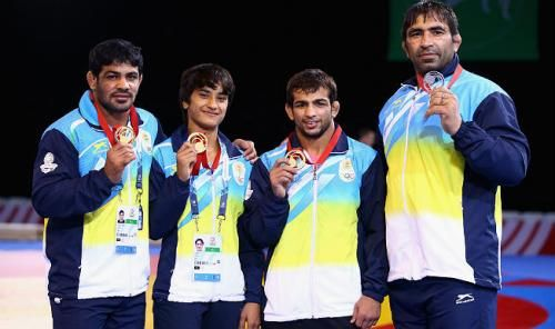 Sushil Kumar leads India's Gold Rush win in Commonwealth Games