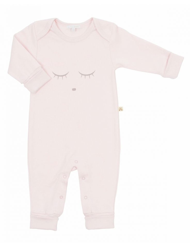 Livly Sleeping Cutie Coverall, Pink/Grey, lyserosa heldress