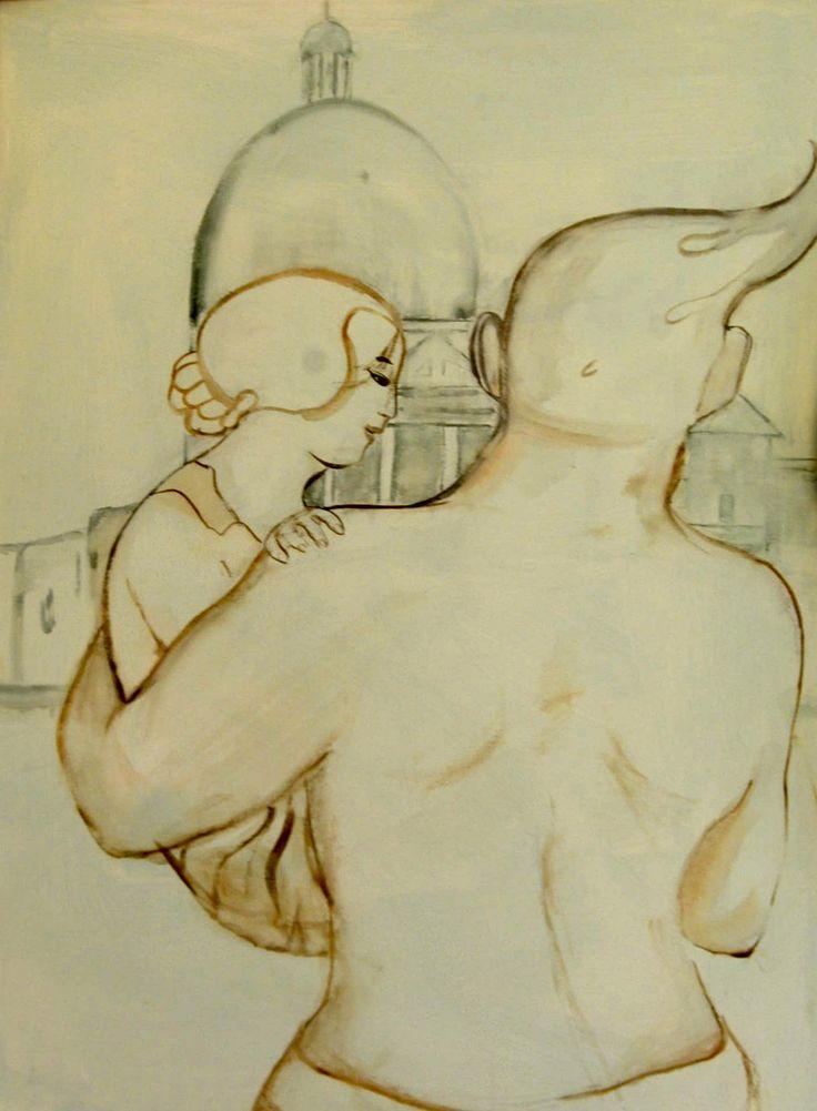 Venice- san Simon By Floor Hendriks. Thin painting ink on canvas