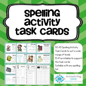 50 Spelling Activities which can be used for any spelling list!