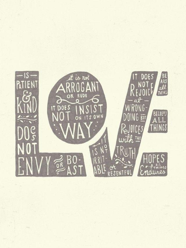 Love printable with 1 Corinthians verse