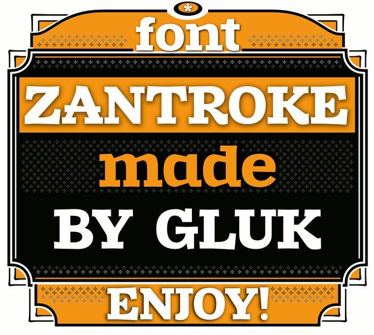 Font Zantroke from glukfonts.pl