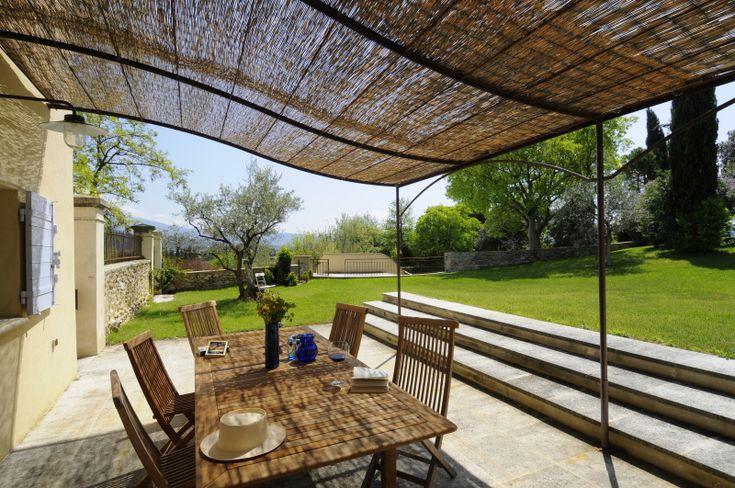 iron pergola - Meilin Bristiel's French farmhouse renovation  - terrace