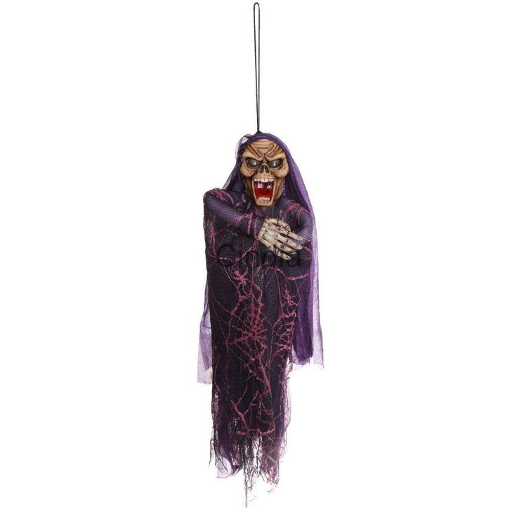 Hanging Ghost Voice Control Scream For Halloween Party Bar Pub Props Toys
