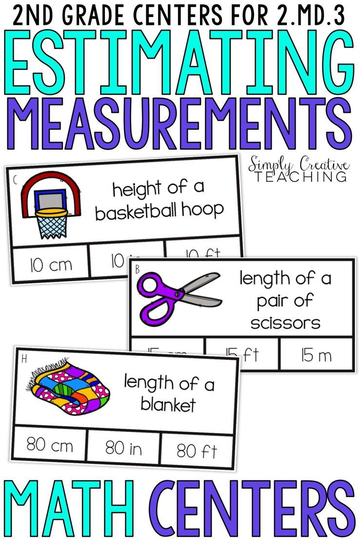 These second grade estimating measurement activities are for Common Core  standard 2.MD.3. St…   Math measurement activities [ 1104 x 736 Pixel ]