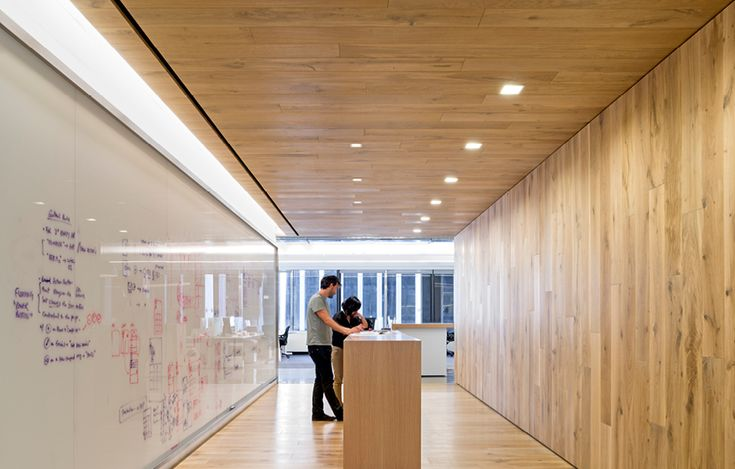 We could do something similar with the main corridor, would be a great first impression of the office