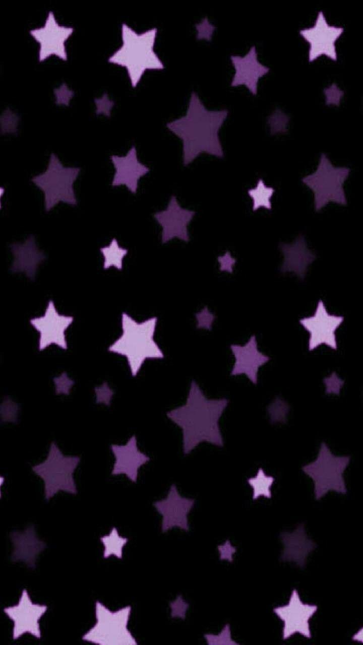 Purple Stars Cellphone Wallpaper Backgrounds Star Wallpaper Purple Art