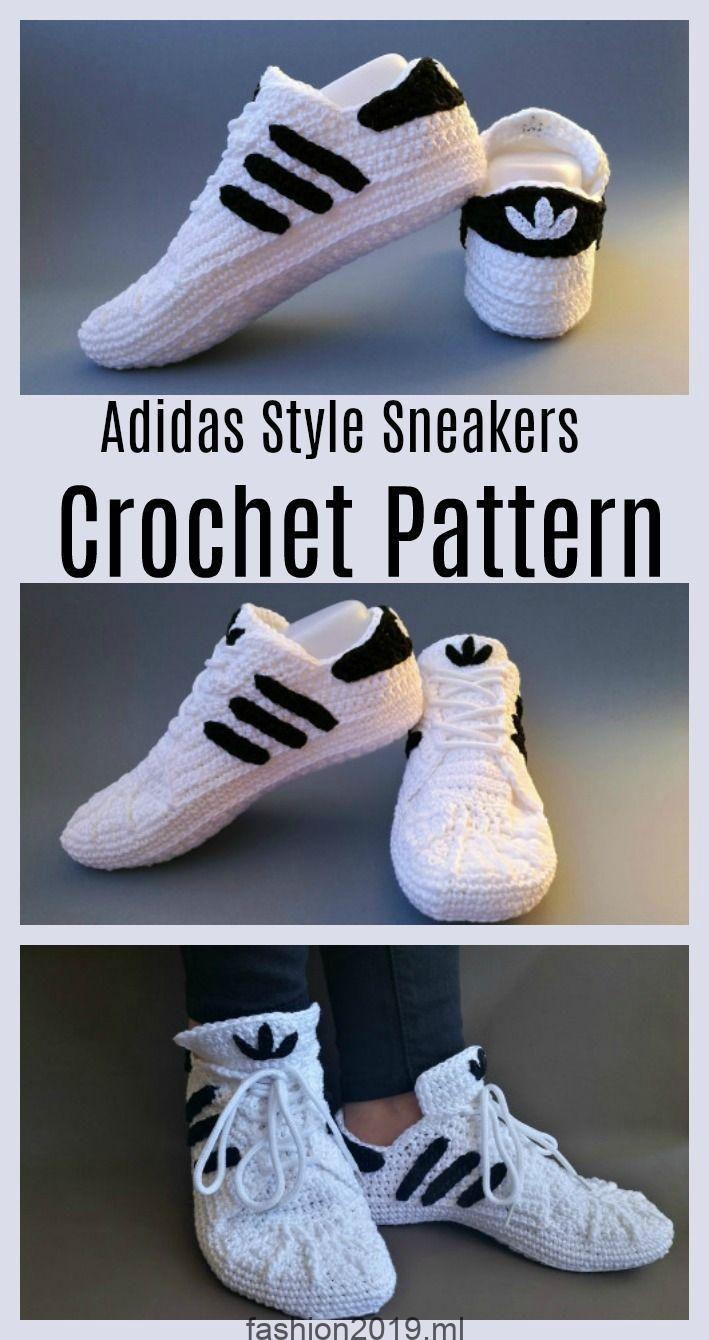Häkeln Sneakers Adidas Kostenlose Anleitung für Sie PiOXkuTZ