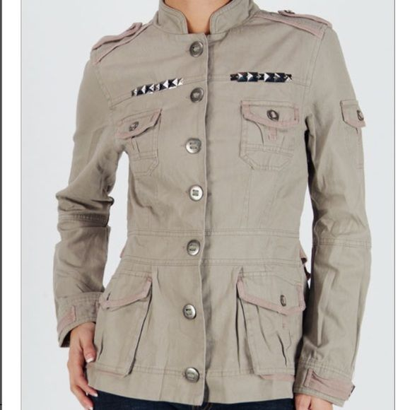 ‼️ONLY 2 left Size Small Military Style Jacket‼️ Fancy embellishments on the front of the jacket with pleated back, front and arm pockets❌Do Not Purchase from this listing. ❌Tag me and I will create you a separate listing Jackets & Coats Pea Coats