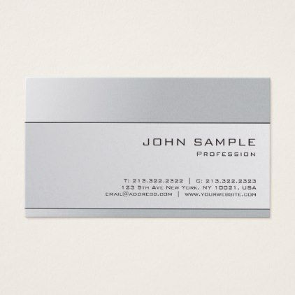 Best 25 luxury business cards ideas on pinterest luxury graphic professional elegant silver gray plain luxury business card reheart Image collections