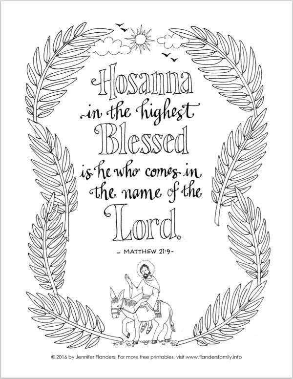 Free Printable Coloring Pages With Scripture Emphasis From Flandersfamily Bible Based